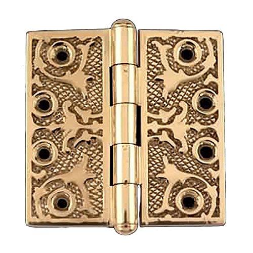 Victorian Solid Antique Brass Door Hinge Button Tip 4  Renovators Supply