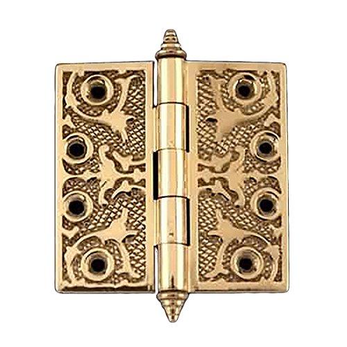 Victorian Solid Antique Brass Door Hinge Decor Tip 4  Renovators Supply
