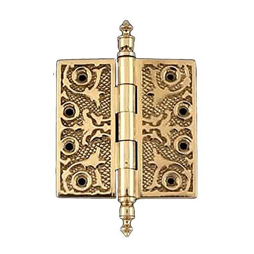 Victorian Solid Antique Brass Door Hinge Urn Tip 4  Renovators Supply