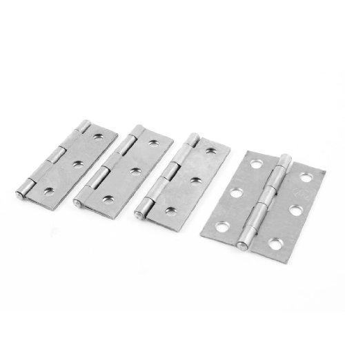 Gray Metal 3 Holes Foldable Rotating Cabinet Door Hinge 25 Long 4 Pcs