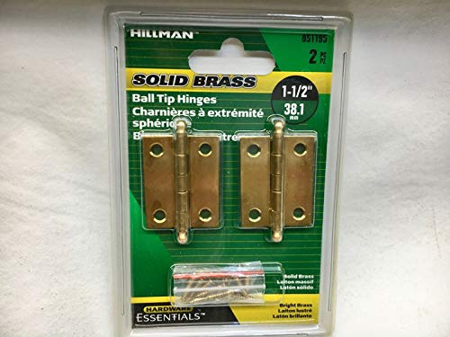TAKAHOME Solid Brass 1-12 Ball Tip Hinges set of 2 by Hillman 851195 Clock Watch repair tools