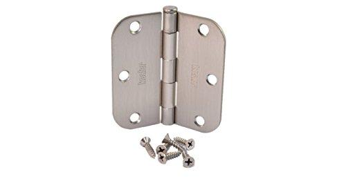 Pack of 30 Kesler 3 12 Inch Satin Nickel Door Hinges 58 Radius Corners