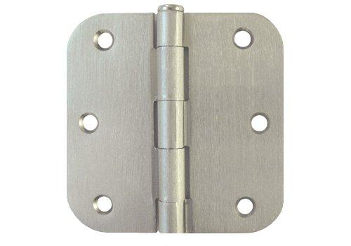 36 PC Satin Nickel 35 X 35in 58 Radius Round Corner Interior Door Hinges Brushed Nickel