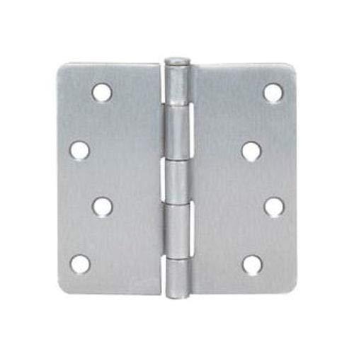 6 Pack - Cosmas Satin Nickel Door Hinge 4 Inch x 4 Inch with 14 Inch Radius Corners - 37663