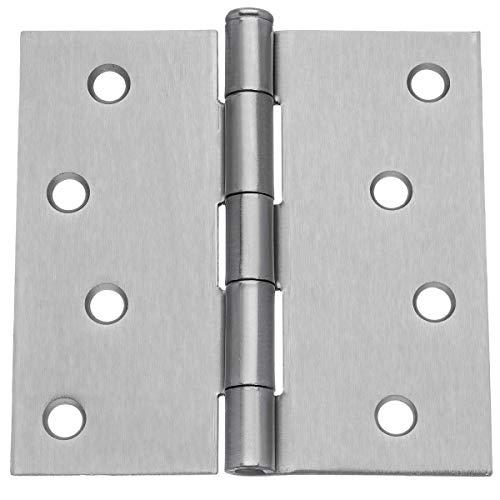 Dynasty Hardware 4 Door Hinges Square Corner Satin Nickel 8 - Pack