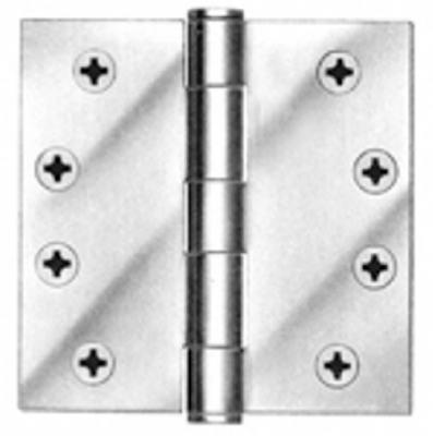 Tell Manufacturing HG100002 45 in Plain Bearing Hinge Satin Chrome Finish Pack 3