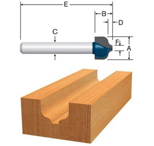 Bosch 85461M 38-Inch Diameter 516-Inch Cut Carbide Tipped Ogee Router Bit 14-Inch Shank