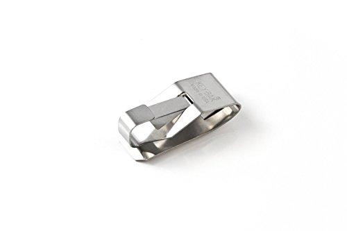 Key-Bak 0600-002 Secure-A-Key Premium Key Accessory Stainless Steel Belt Clip Chrome