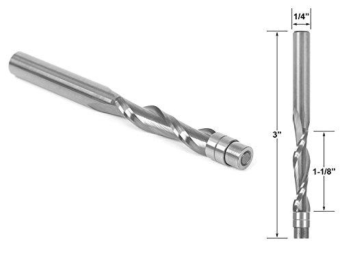Yonico 14121 Solid Carbide Flush Trim Router Bit- Spiral Upcut 14-Inch Shank