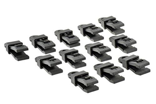 SE 9615RB12 AwningTarp Clamps 12-Pack Black