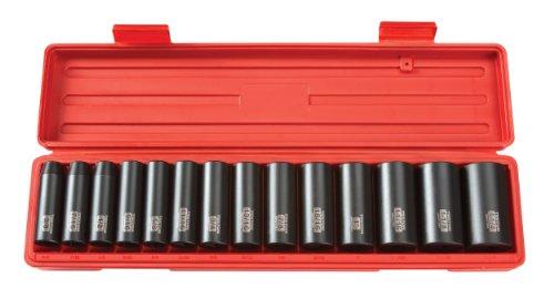 TEKTON 4880 12-Inch Drive Deep Impact Socket Set Inch Cr-V 6-Point 38-Inch - 1-14-Inch 14-Sockets