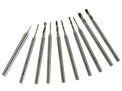 Velleman DRILLSET1 10 Pc Assorted Mini Drill Bit Set