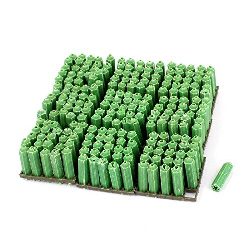 uxcell 8mmx30mm Masonry Screws Fixing Plastic Wall Plug Anchor Green 250pcs