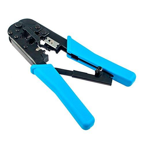 Vastar Crimping Tool - 8PRJ-45 6PRJ-12 and RJ-11 Crimp Cut and Strip Tool