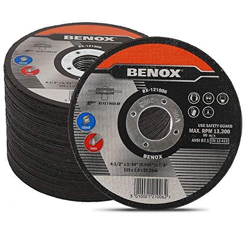 BENOX 50-Pcs Pack 4-12 In Cut-Off Wheel 4-12 x 0045 364 x 78 In Metal Cutting Disc BX-121006 50