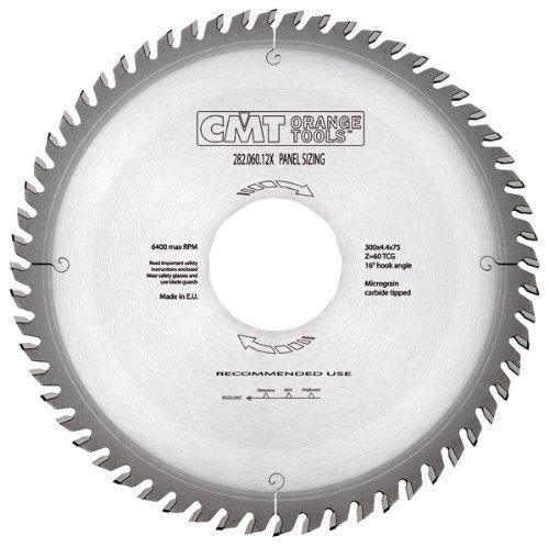 CMT 28207220U Industrial Panel Sizing Saw Blade 500mm 19-4364-Inch X 72 Teeth TCG Grind with 80mm Bore