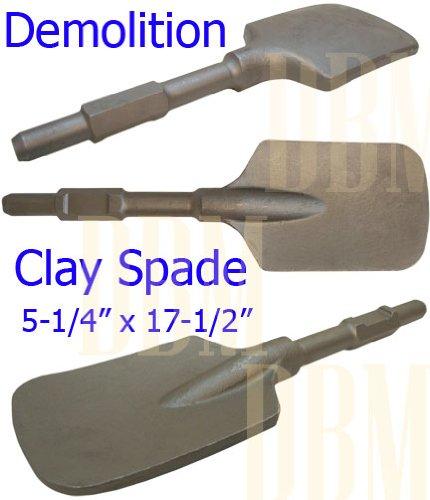 Demolition Hammer Clay Spade Scoop Shovel Bit Spline Shank Hex Drill 5-12
