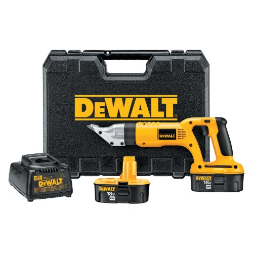 DEWALT DC490KA 18-Volt Cordless 18 Gauge Swivel Head Shear Kit