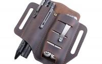 VIPERADE-PJ8-EDC-Leather-Sheath-for-Blet-Knife-Tool-Flashlight-Tactical-pen-and-EDC-Gears-Pocket-EDC-Organizer-Leather-Sheath-Hademade-2-Pockets-Belt-Leather-Slip-Sheath-Brown-31.jpg